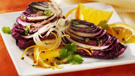 Rezept: Karamellisierter Radicchio mit Orangen
