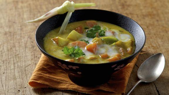 Rezept: Karotten-Kokos-Suppe auf ayurvedische Art
