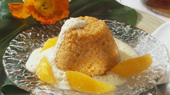 Rezept: Karottenpudding mit Orangensoße
