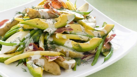 Rezept: Kartoffel-Avocado-Salat mit Bohnen