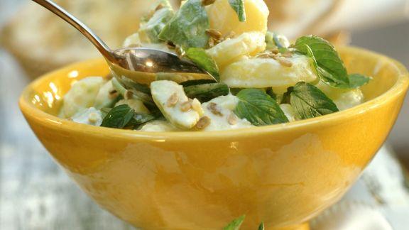 Rezept: Kartoffel-Avocado-Salat mit Minze
