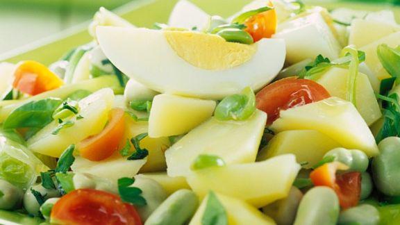 Rezept: Kartoffel-Bohnen-Salat
