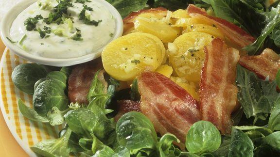 Rezept: Kartoffel-Feldsalat