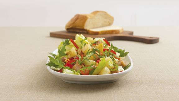 Rezept: Kartoffel-Forellen-Salat mit Rauke
