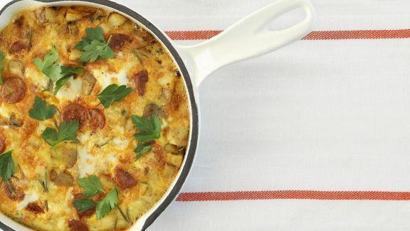 Rezept: Kartoffel-Frittata mit Chorizo