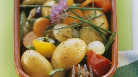 Rezept: Kartoffel-Gemüse-Pfanne