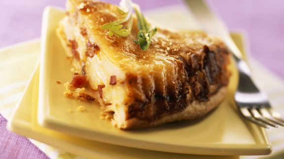 Rezept: Kartoffel-Käse-Quiche mit Speck