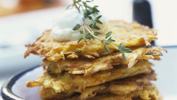 Rezept: Kartoffel-Kürbis-Küchlein