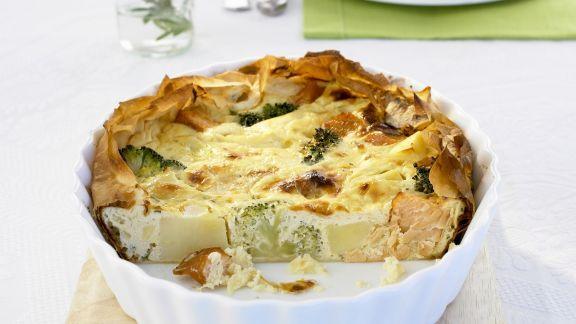 Rezept: Kartoffel-Lachs-Kuchen
