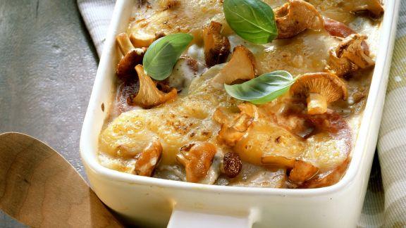 Rezept: Kartoffel-Lasagne mit Pilzen