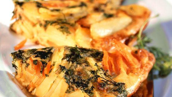 Rezept: Kartoffel-Möhren-Tortilla