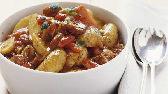 Rezept: Kartoffel-Paprika-Pfanne mit Chorizo