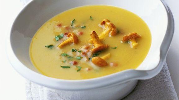 Rezept: Kartoffel-Pfifferlings-Suppe
