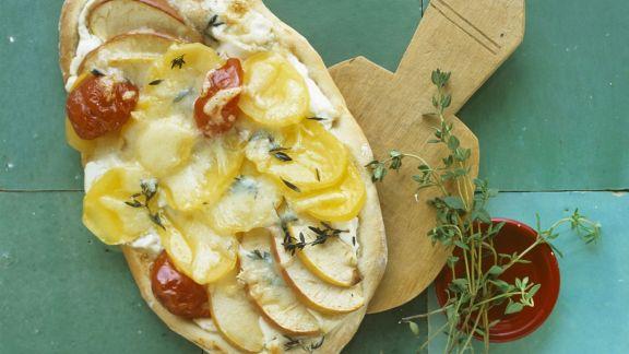Rezept: Kartoffel-Pizza mit Apfel