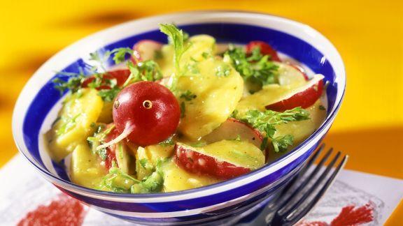 Rezept: Kartoffel-Radieschensalat