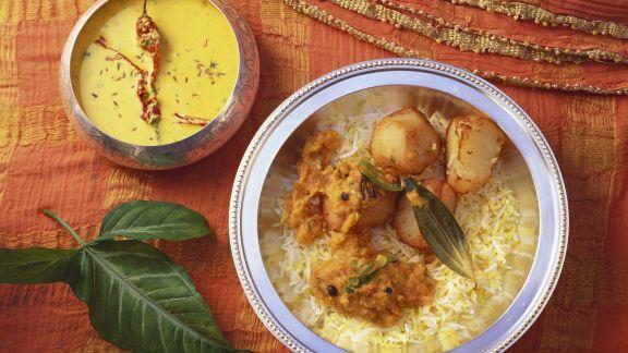 Rezept: Kartoffel-Reis-Topf auf indische Art