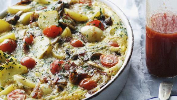 Rezept: Kartoffel-Rindfleisch-Auflauf mit Gemüse