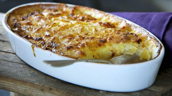 Rezept: Kartoffel-Sellerie-Auflauf