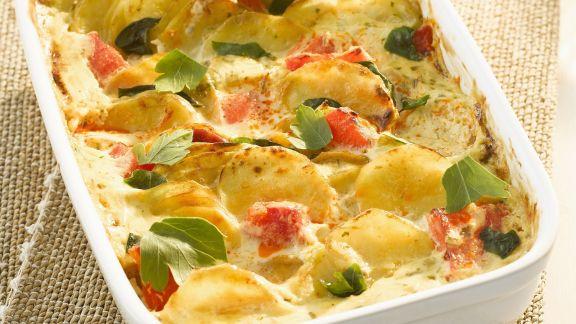 Rezept: Kartoffel-Tomaten-Gratin
