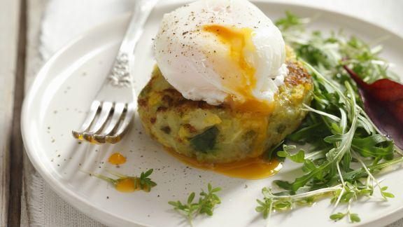 Rezept: Kartoffelbratling mit pochiertem Ei