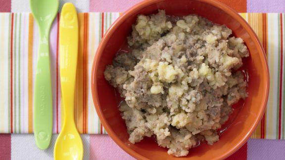 Rezept: Kartoffelbrei mit Hähnchenleber