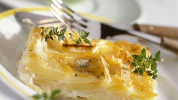 Rezept: Kartoffelgratin mit Apfel