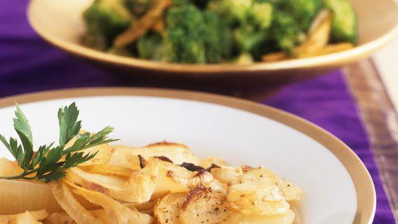 Rezept: Kartoffelgratin mit Zwiebeln