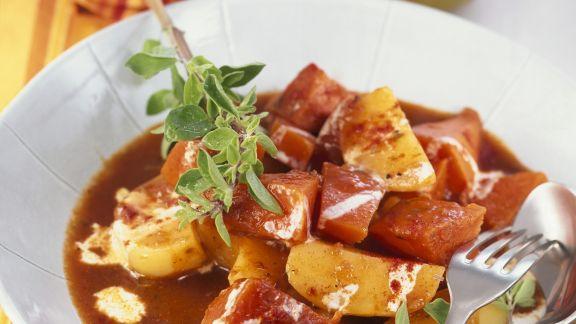 Rezept: Kartoffelgulasch mit Kürbis und QuimiQ