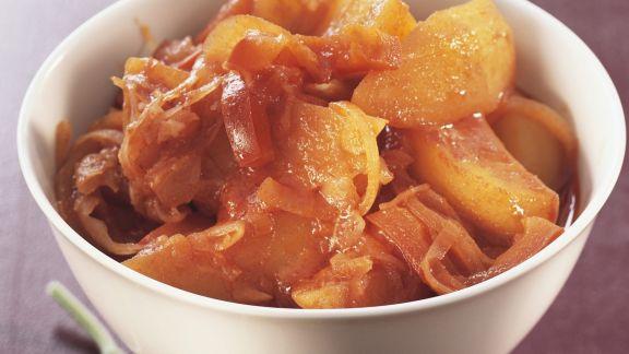 Rezept: Kartoffelgulasch mit Sauerkraut