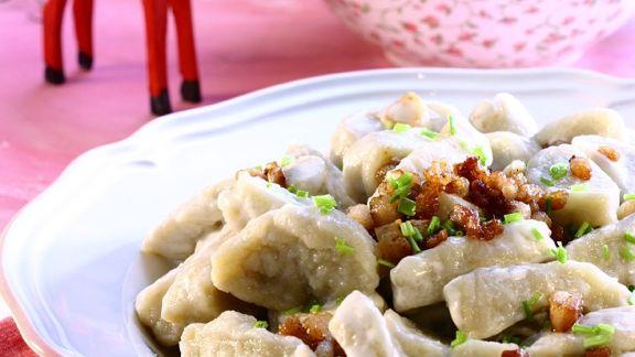 Rezept: Kartoffelklößchen mit Speck