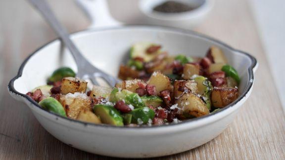 Rezept: Kartoffeln mit Gemüse auf englische Art