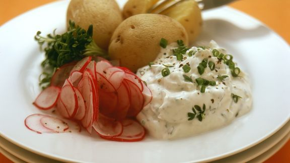 Rezept: Kartoffeln mit Quark
