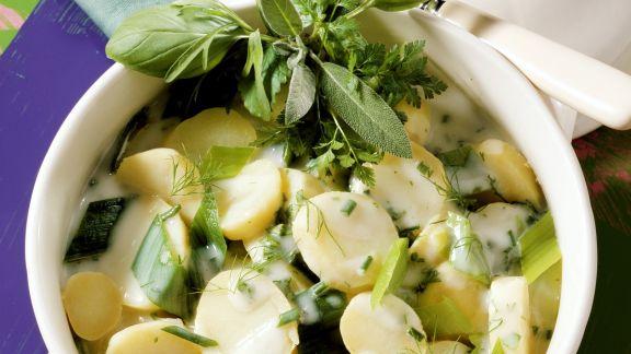 Rezept: Kartoffeln und Lauch und Béchamelsoße