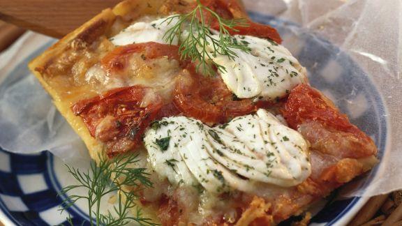 Rezept: Kartoffelpizza mit Heilbutt