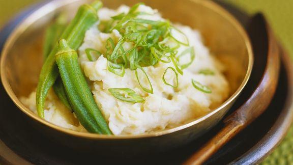 Rezept: Kartoffelpüree mit Okra