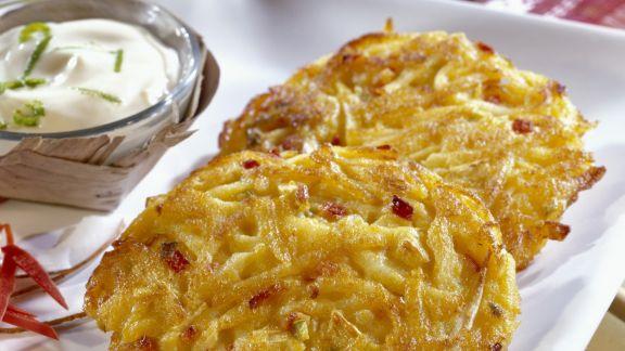 Rezept: Kartoffelpuffer mit Bambussprossen und Chili