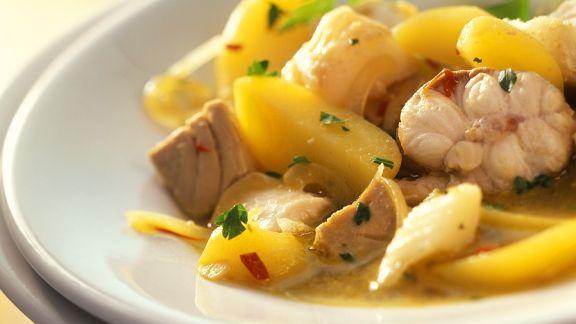 Rezept: Kartoffelragout mit Fisch