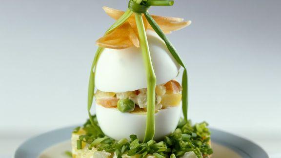 Rezept: Kartoffelsalat mit Ei