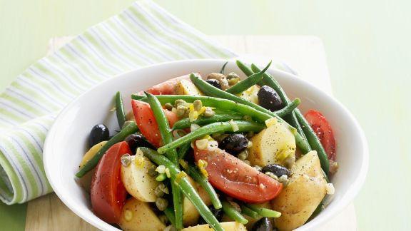 Rezept: Kartoffelsalat mit grünen Bohnen