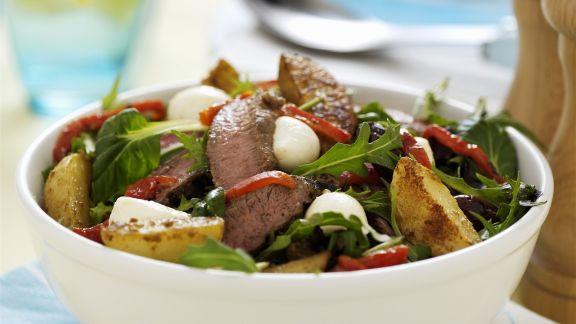 Rezept: Kartoffelsalat mit Lammfleisch