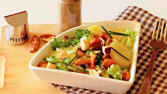 Rezept: Kartoffelsalat mit Pfifferlingen