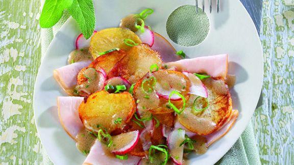 Rezept: Kartoffelsalat mit Putenbrust