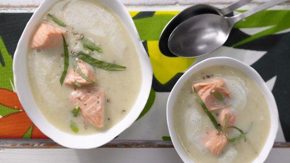 Rezept: Kartoffelsuppe mit Lachs