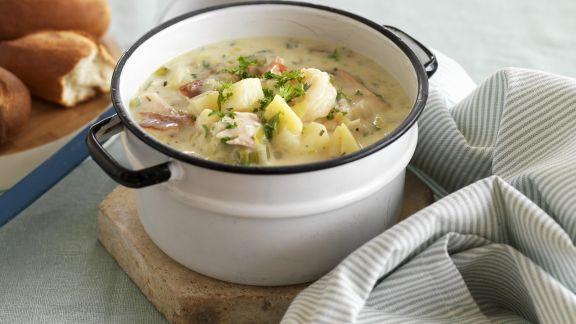Rezept: Kartoffelsuppe mit geräuchertem Fisch
