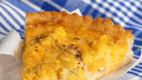 Rezept: Kartoffeltarte mit Räucherfisch