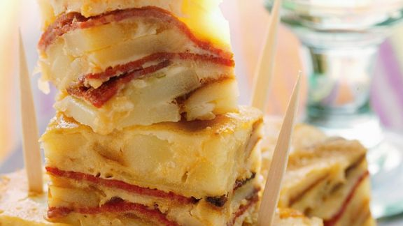 Rezept: Kartoffeltortilla mit Paprika
