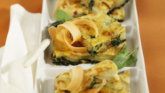 Rezept: Kartoffeltortilla mit Spinat