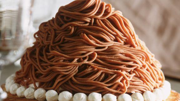 Rezept: Kastanienmus-Torte