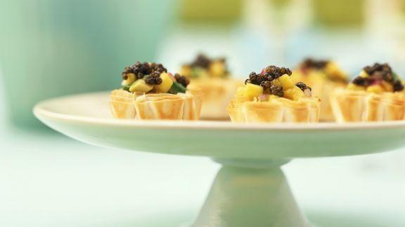 Rezept: Kaviarhäppchen aus Blätterteig