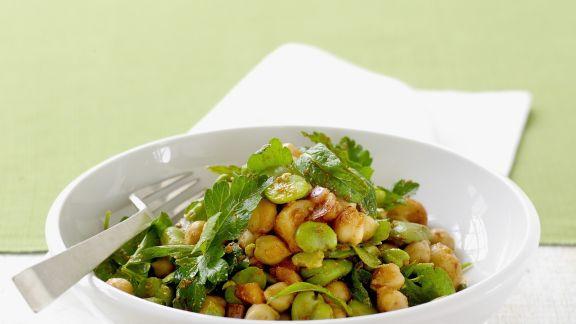 Rezept: Kichererbsen-Bohnen-Salat